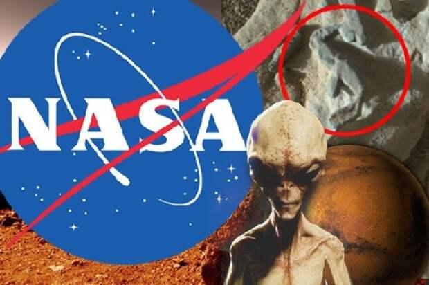 Топ ученый утверждает, что НАСА скрывает доказательства инопланетной жизни на Марсе (2 фото)