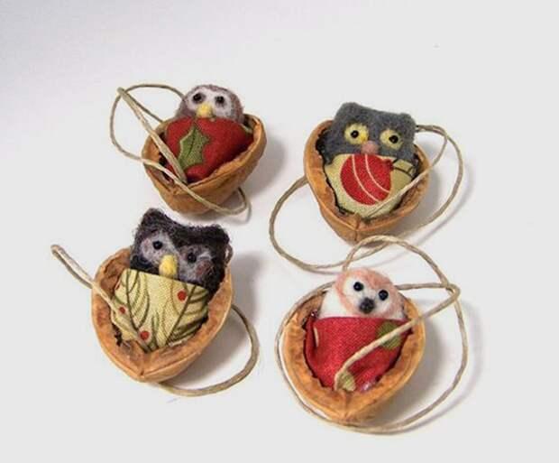 Щёлкаем орешки: скорлупа грецкого ореха как материал для вашего творчества, фото № 27