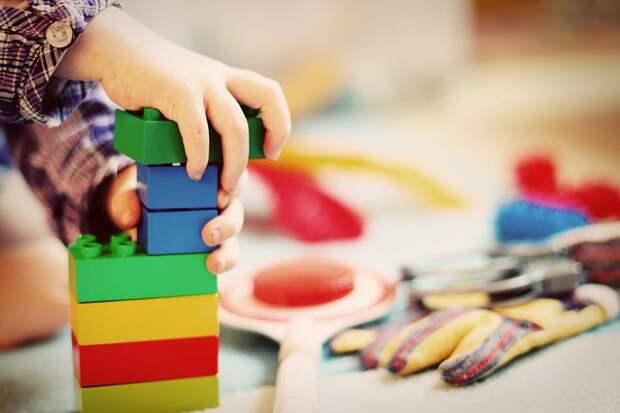 Ребенок, Башня, Строительные Блоки