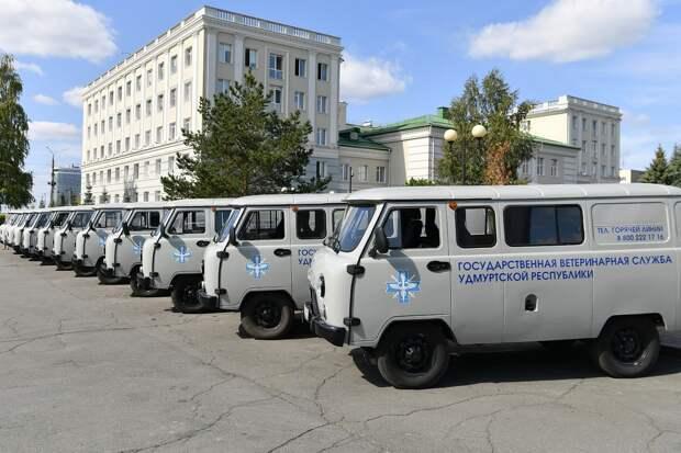 Ветеринары Удмуртии получили 11 новых автомобилей