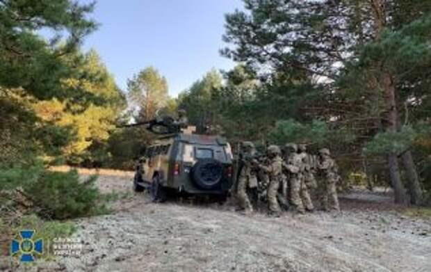 СБУ провела учения вблизи границы с Беларусью