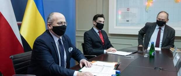 Збигнев Рау (на переднем плане). Фото: gov.pl/web/dyplomacja