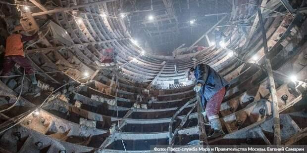 Собянин отметил темпы строительства восточного участка БКЛ метро. Фото: Е. Самарин mos.ru