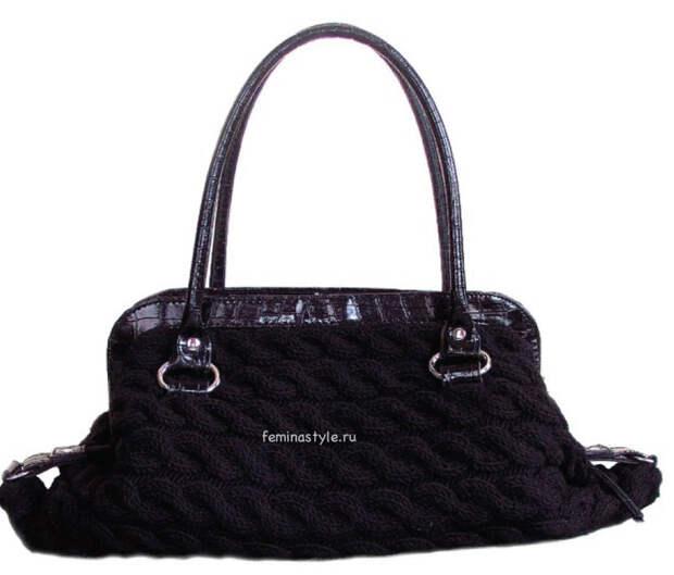 Связанная спицами сумка