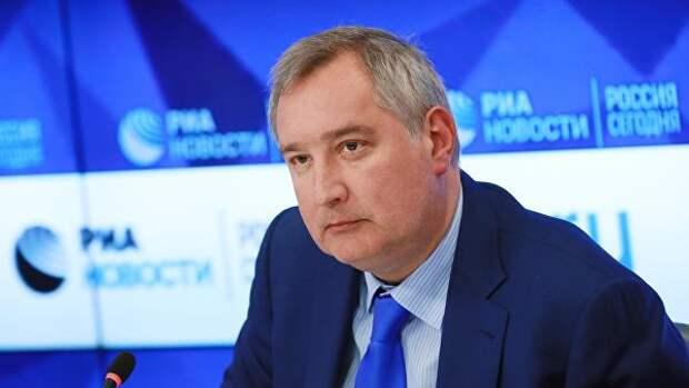 Генеральный директор госкорпорации Роскосмос Дмитрий Рогозин на пресс-конференции на тему: Фундаментальная наука в космосе в пресс-центре МИА Россия сегодня