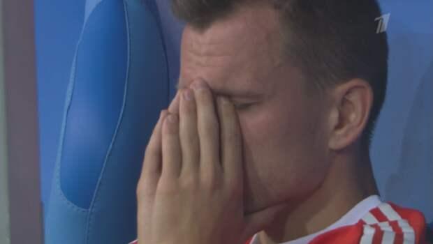 Проигрыш нашей сборной в эмоциях футболистов