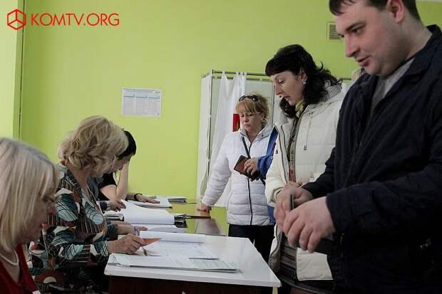 Выборы в Крыму 2018 Избирательный участок №439 (стадион им. Шайдерова) 1