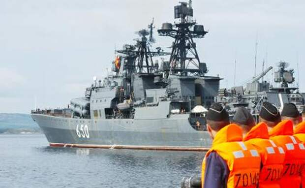 "На фото: большой противолодочный корабль ""Адмирал Чабаненко"""