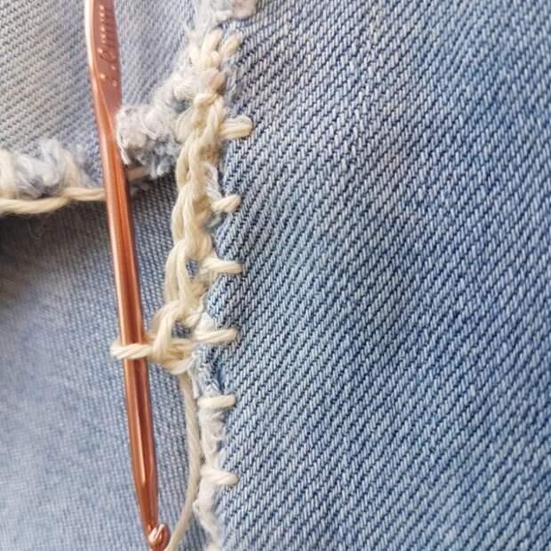 Креативная заплатка на джинсы