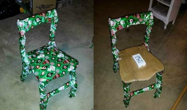 9. Это стул? Нет, это айфон! мастера упаковки, подарок, прикол, упаковка