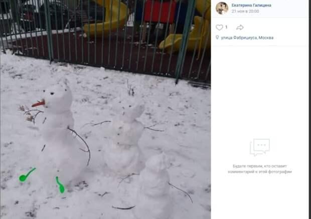 Фото дня: семья снеговиков