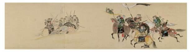 Свиток монгольского вторжения. Мёко сюрай экотоба.