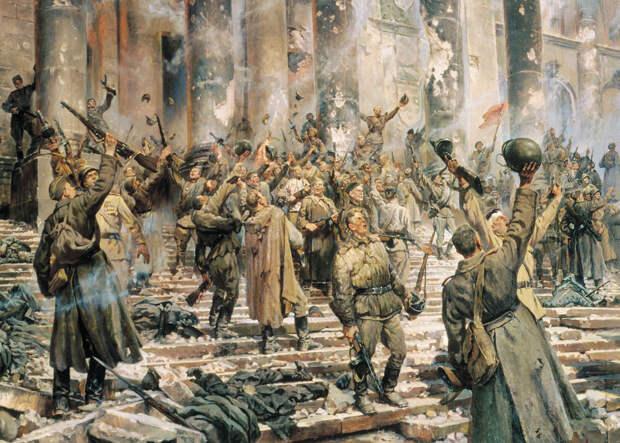 В день памяти великомученика Георгия Победоносца, 6 мая 1945 года, был подписан предварительный протокол акта капитуляции фашистской Германии.