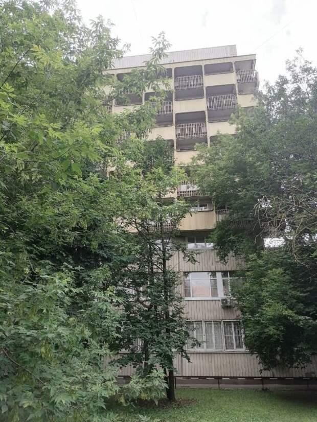Фото дня: балконы-«шашечки» на Коптевской