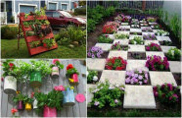 Идеи вашего дома: 16 способов преображения своего участка при помощи цветочных композиций