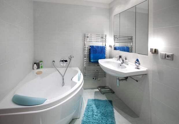 В ванной содержится самое большое количество бактерий. / Фото: maksiolus.ru