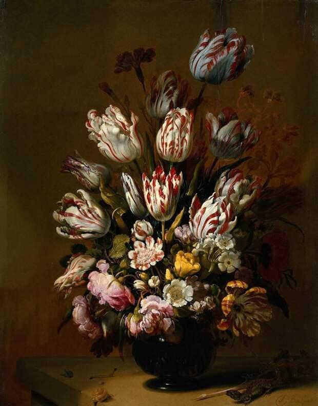 Hans Gillisz, Bollongier (1600-1645) Нидерланды голландские натюрморты, живопись, искусство, красота, цветы