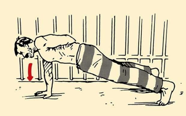 Тюремная хитрость: лучший тренинг для ограниченного пространства