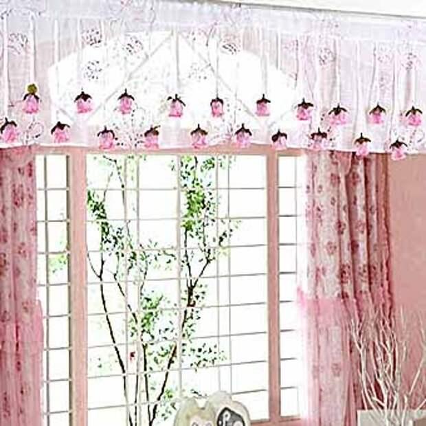 красивые цветочные подвески для штор