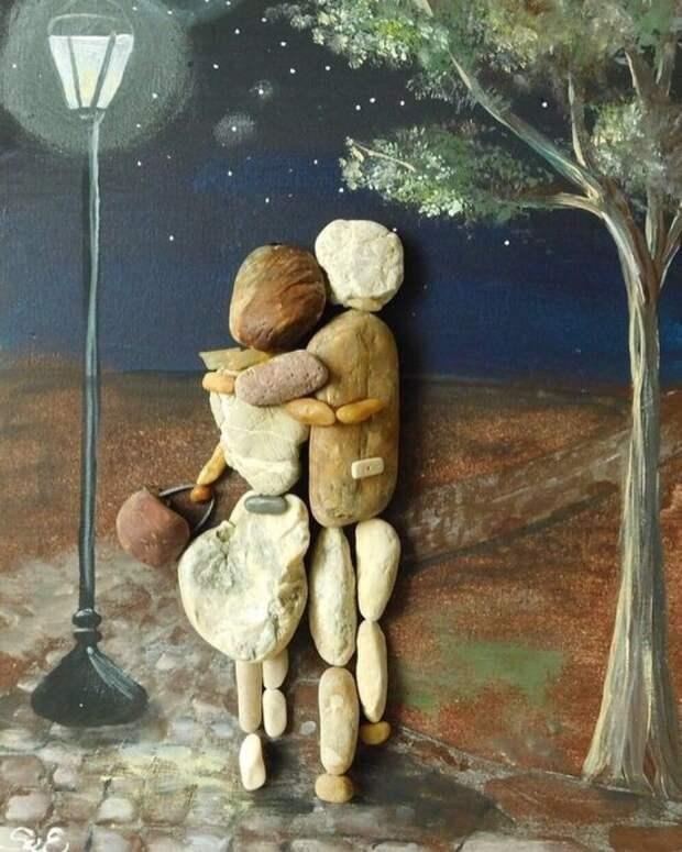 Картины из камней: идеи для вдохновения