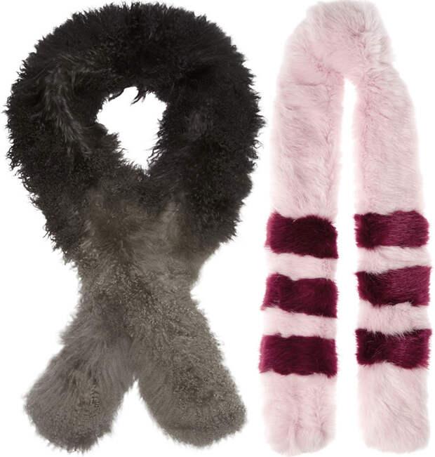 Меховые шарфы осень-зима