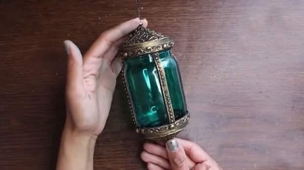 Из самой обычной банки получается сказочный светильник в восточном стиле