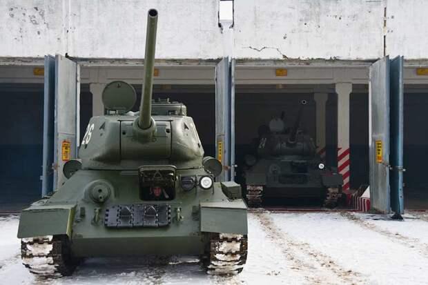 Танки Т-34 начнут тренировки для участия в параде
