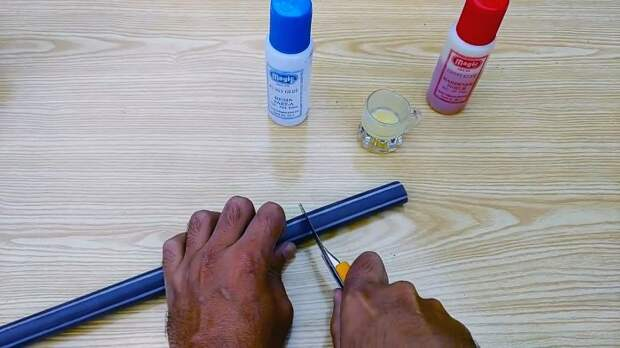 Как заклеить гибкий шланг