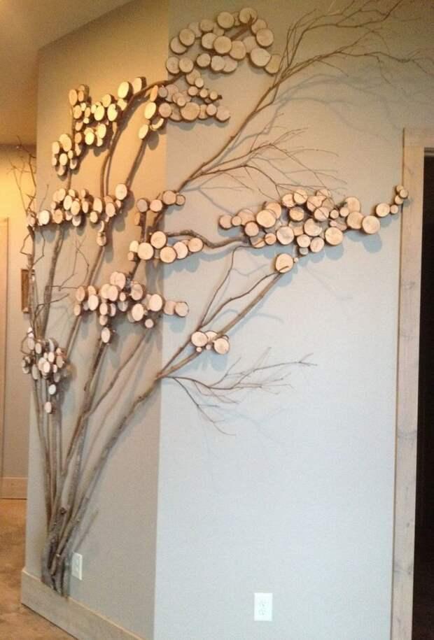 25 идей декора из кусочков дерева