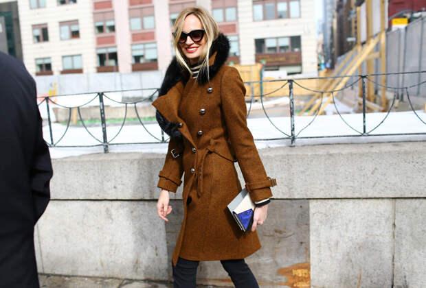 С чем носить пальто в стиле милитари? /Фото: yavmode.ru