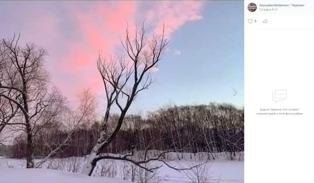 Фото дня: малиновое небо
