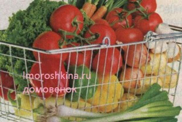 Приготовление блюд из овощей