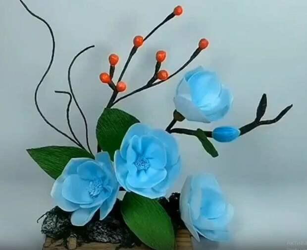 Можно сделать цветы - красота же