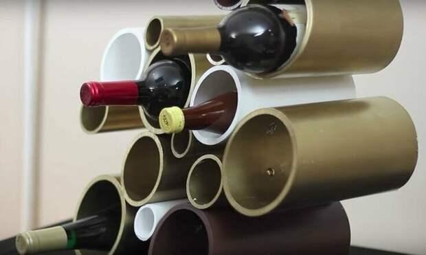 Полка для бутылок изобретательность, пвх, пвх-изыски, пвх-трубы, подборка, прикол, юмор