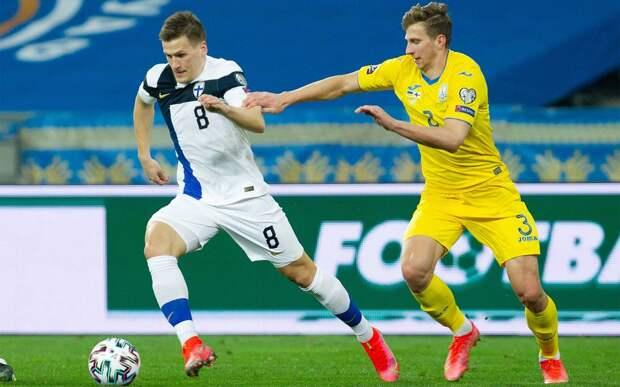 Украина упустила победу в матчей с Финляндией, пропустив от Пукки на 89-й минуте