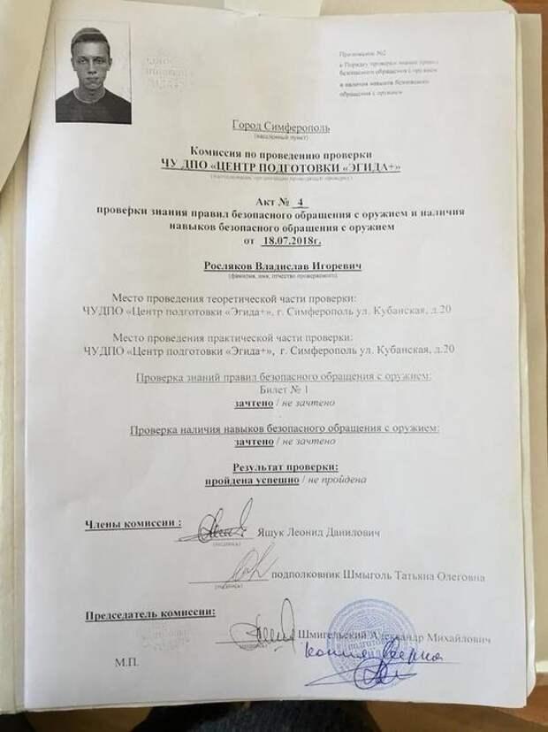 Стало известно сколько денег потратил Росляков на подготовку массового убийства в Керчи