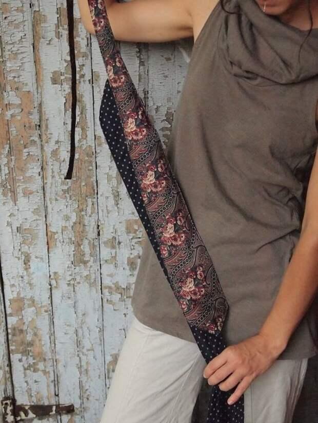 Подборка идей и мастер-класс по созданию пояса из мужских галстуков