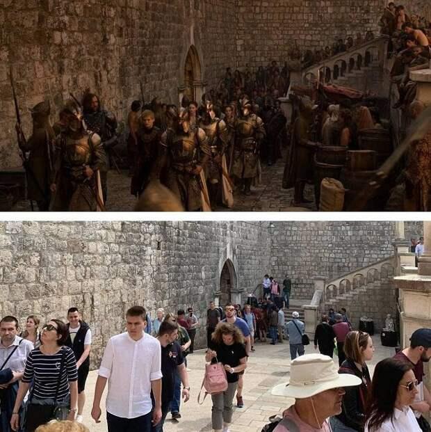 """Как выглядят локации """"Игры престолов"""" на съёмках и в жизни"""