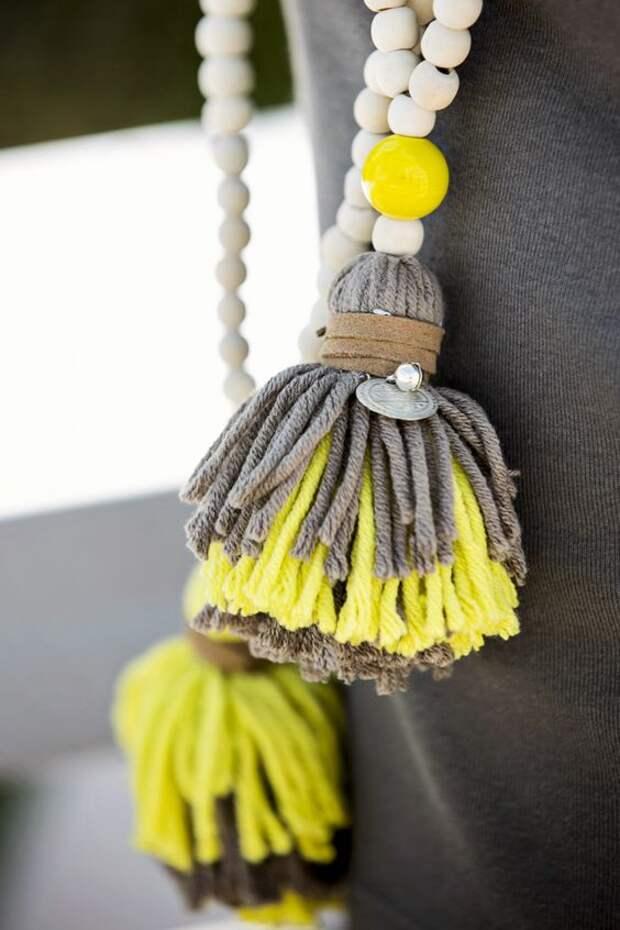 Изюминка интерьера — очаровательные кисточки для штор: фото и мастер-классы по изготовлению