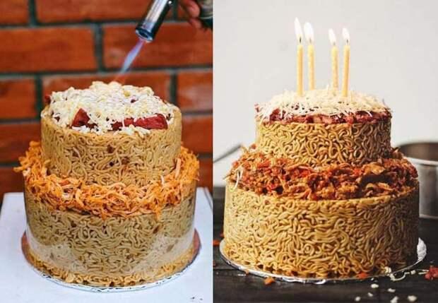 Пекари научились делать торты из лапши