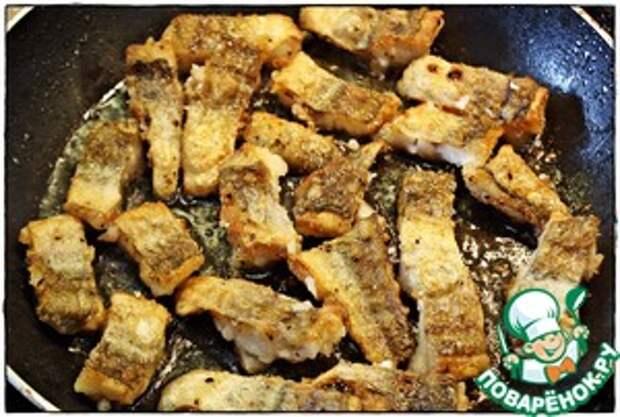 Рыба в чесночно-сливочном соусе Рыба
