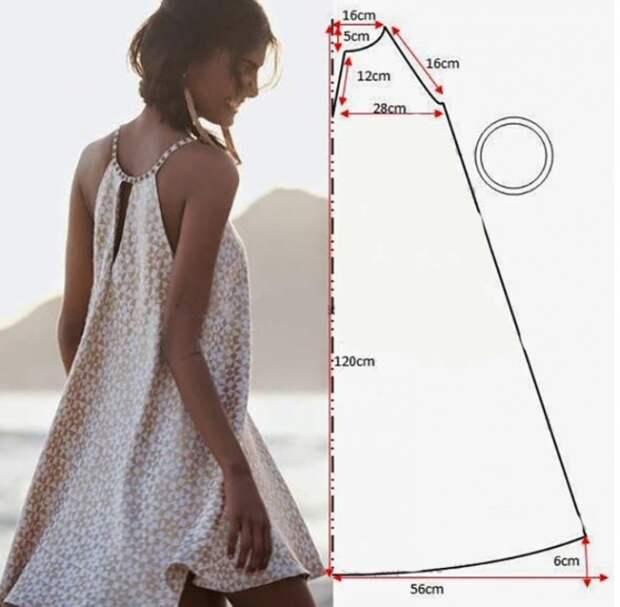 5 простых выкроек платьев для жары