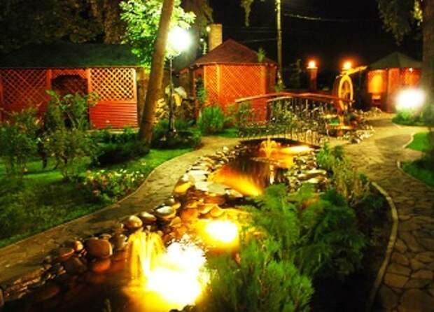 Как организовать освещение для сада: виды подсветки дорожек, водоемов и растений