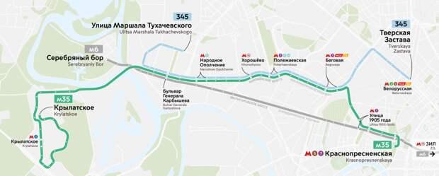 Новый автобусный маршрут свяжет Хорошёво-Мнёвники и Старый Арбат