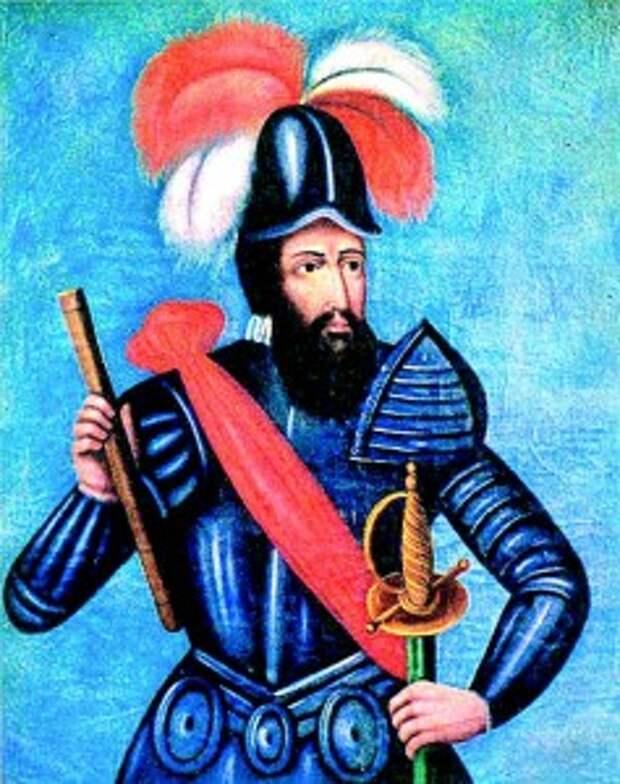 Франсиско Писарро. Индейцы принимали его за Виракочу