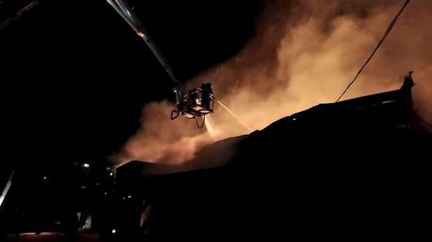 Пожар на складе пиломатериалов произошёл в Ижевске