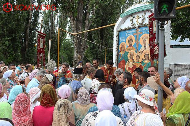 Феодосия Молебен в день 100-летия убийства Царской семьи