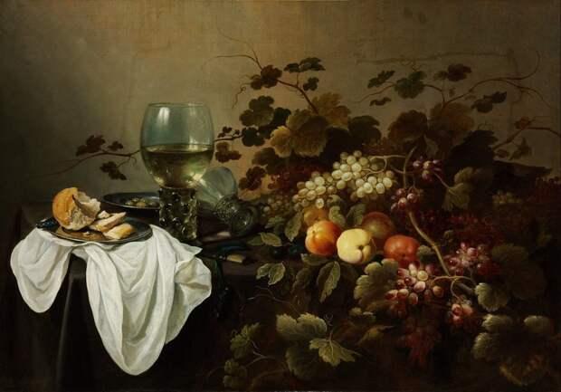 Питер Клас (нидерл. Pieter Claesz (ок. 1597, Берхем — 1 января 1661, Харлем) — голландский художник, мастер натюрморта. Натюрморт с фруктами голландские натюрморты, живопись, искусство, красота, цветы