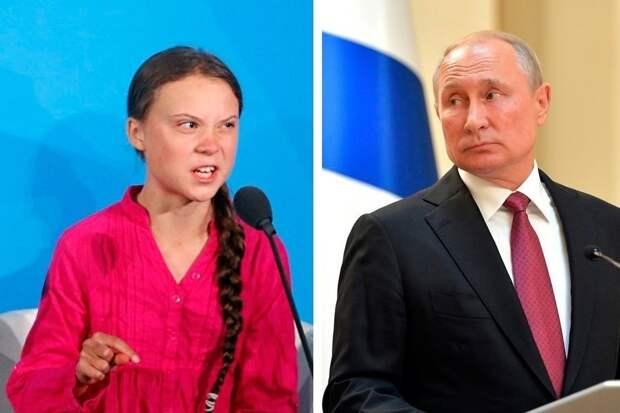 Путин о Тунберг: использовать детей недопустимо