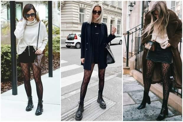 Колготки осень 2020: всё о модных цветах, принтах, о теплых и капроновых колготках